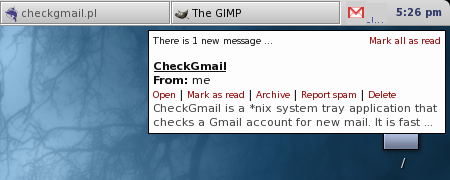 Screenshot of CheckGmail